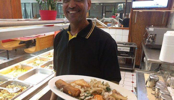 Tee Belachew at Village Restaurant
